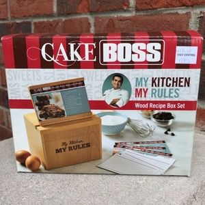 Cake Boss Wood Recipe Box Set